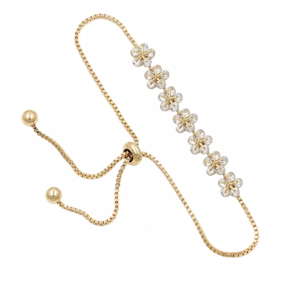 CUBIC ZIRCONIA COLLECTION - CHIC BRACELET - BR116 GOLD