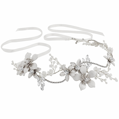 ATHENA COLLECTION -EXQUISITE ROMANCE VINE - (HP147) SILVER