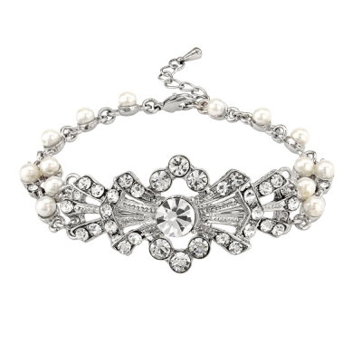 SASSB COLLECTION - GATSBY GLAM BRACELET - SILVER