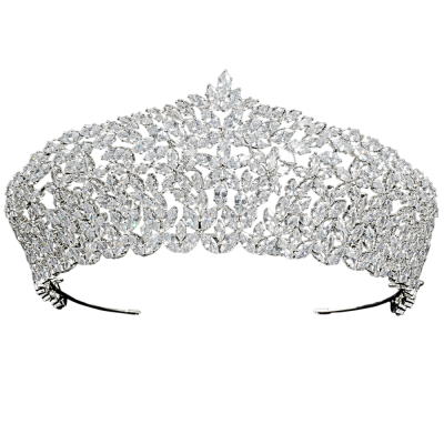 CUBIC ZIRCONIA COLLECTION - RADIANCE LUXE CROWN - AHB88