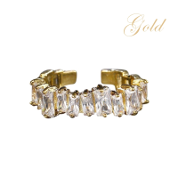 ATHENA COLLECTION - DIVINE CRYSTAL RING - ADJUSTABLE - GOLD
