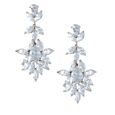 CUBIC ZIRCONIA COLLECTION - DAZZLING STARLET EARRINGS - CZER578