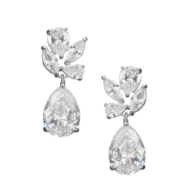 CUBIC ZIRCONIA COLLECTION - VINTAGE SPARKLE EARRINGS - CZER537