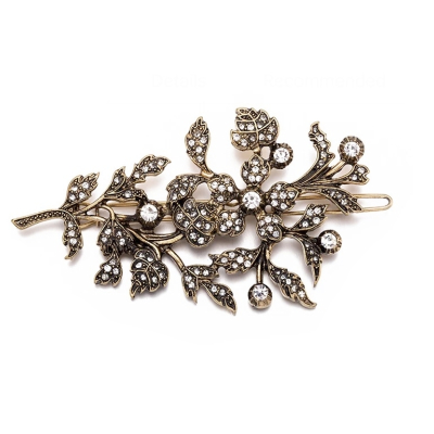 ATHENA COLLECTION - EXQUISTE VINTAGE HAIR CLIP - ANTIQUE GOLD (CLIP 746)