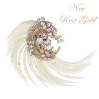 ADORIA LUXE FEATHER HEADPIECE - SASSB (ROSE GOLD)