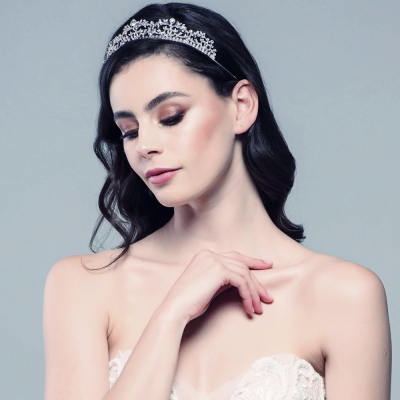 JULIET - EXQUISITE CRYSTAL TIARA 19- SASSB