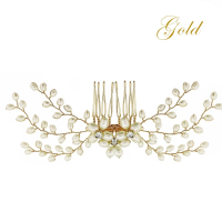 ATHENA COLLECTION - DELICATE PEARL COMB - HC154 GOLD