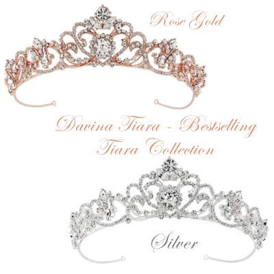 SASSB COLLECTION - DAVINA TIARA - ROSE AND SILVER
