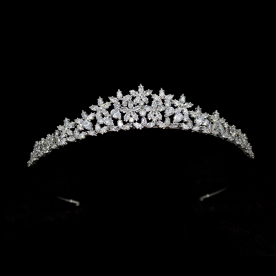 CUBIC ZIRCONIA COLLECTION -  PRETTY CHIC TIARA   AHB-51