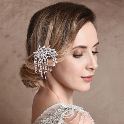 ATHENA COLLECTION - GATSBY STYLE CRYSTAL CLIP - CLIP 745