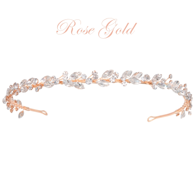 ATHENA COLLECTION - CRYSTAL CHIC HEADBAND - AHB-52 (ROSE GOLD)