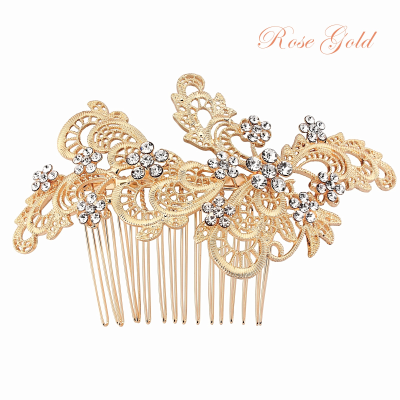 SASSB COLLECTION - LIZA EXQUISITE HAIRCOMB  HC32- ROSE GOLD