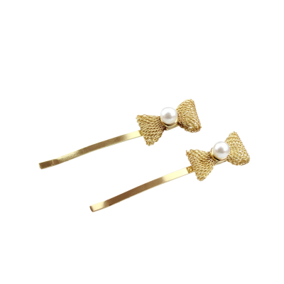 ATHENA COLLECTION - CHIC GOLD BOW CLIPS - CLIP 739