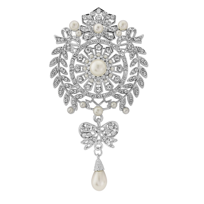 EXQUISITELY VINTAGE BRIDAL BROOCH - (BROOCH 153)