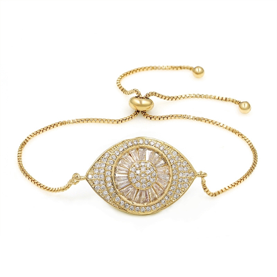 ATHENA COLLECTION - BEJEWELLED BRACELET - CZBRA35 (GOLD)