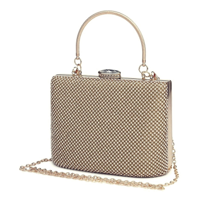 STARLET LUXE - CRYSTAL BAG - GOLD