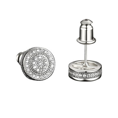 CUBIC ZIRCONIA COLLECTION - CRYSTALLURE STUD EARRINGS - CZER571 SILVER