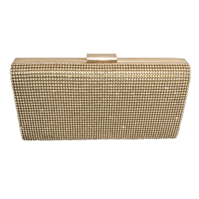 CRYSTAL ELEGANCE EVENING BAG - GOLD