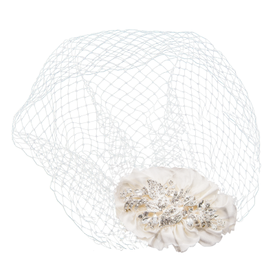 SASSB COLLECTION - VINTAGE LUXE BIRDCAGE VEIL - HP34 - SILVER