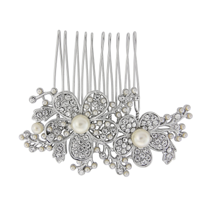 Athena Collection - Floral Hair comb  - HC143