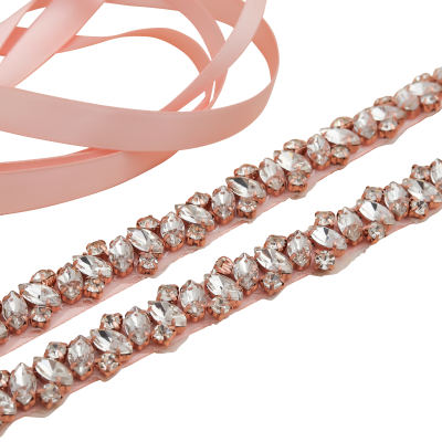 ATHENA COLLECTION - CRYSTAL CLUSTER BELT  - BELT 30  PINK