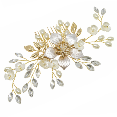 ATHENA COLLECTION -EXQUISITE ROMANCE HAIR COMB - GOLD - HC161
