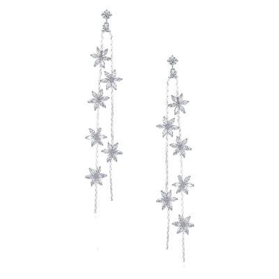 CUBIC ZIRCONIA COLLECTION - STARLET GEM EARRINGS - CZER570