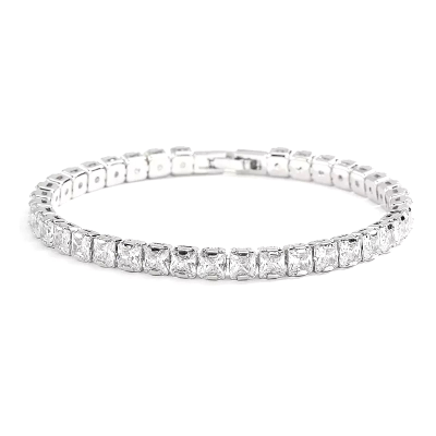 CUBIC ZIRCONIA COLLECTION - CRYSTAL GLAM TENNIS BRACELET - BR116