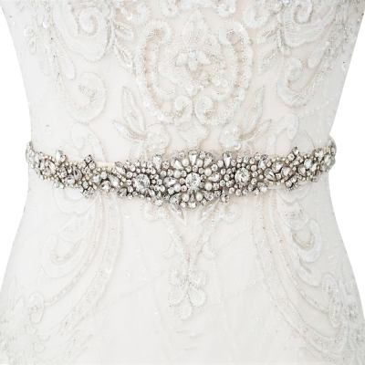 ATHENA COLLECTION - LUXE PEARL BRIDAL BELT 27