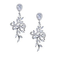 CUBIC ZIRCONIA COLLECTION - CRYSTAL SPLENDOUR EARRINGS - CZER465