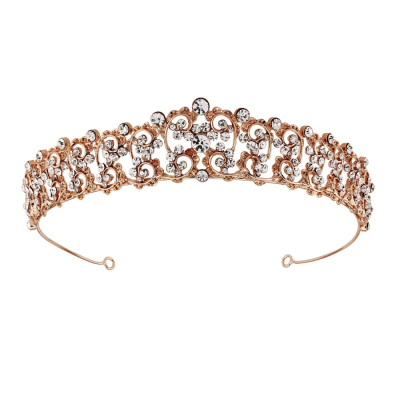 SASSB COLLECTION - CHRISTABEL LUXE TIARA 17- ROSE GOLD