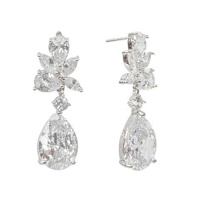 CUBIC ZIRCONIA COLLECTION - EXQUISITE STARLET EARRINGS - CZER445
