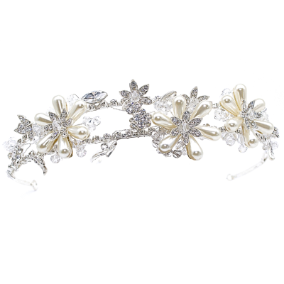 ATHENA COLLECTION - FLORAL SHIMMER HEADBAND - AHB48