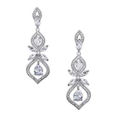 CUBIC ZIRCONIA COLLECTION - SIMPLY SPARKLE  - CZER449 SILVER