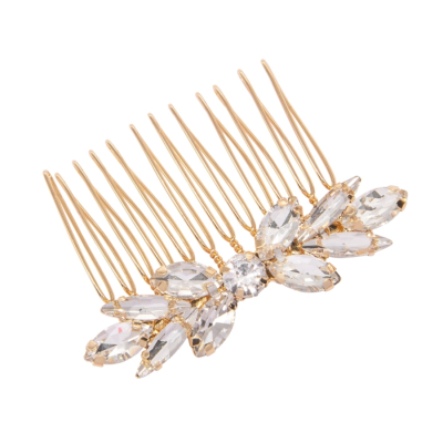 ATHENA COLLECTION - DAINTY DIVINE HAIR COMB - HC197 -GOLD