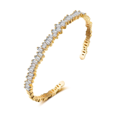 CUBIC ZIRCONIA COLLECTION - CRYSTALLURE BANGLE - CZBRA38 - GOLD