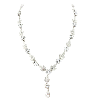 ELITE COLLECTION - Crystal Bridal Necklace Set - Clear (NK309)