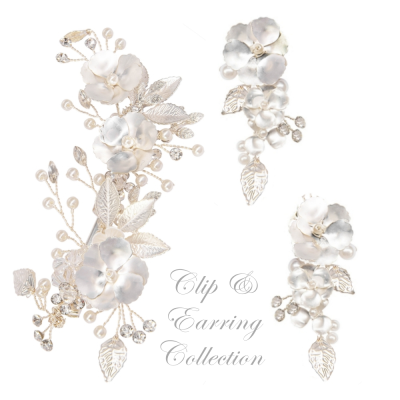 ATHENA COLLECTION - MATCHING CLIP AND EARRING SET - (C1)
