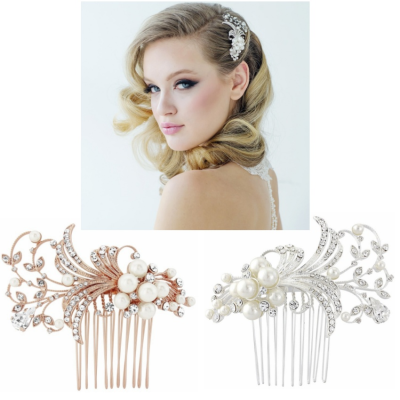 SASSB COLLECTION - VERA PEARL HAIR COMB COLLECTION