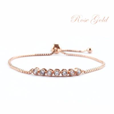 ATHENA COLLECTION - DAINTY GLAM BRACELET - BR43 ROSE GOLD