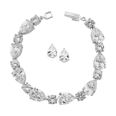 Cubic Zirconia Collection - Crystal Bracelet Set - Collection 6