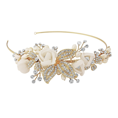Clara Romantic Headband GOLD - SASSB - HDB6