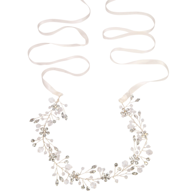 ATHENA COLLECTION - LUSH CRYSTAL HAIR VINE-  HP191 SILVER