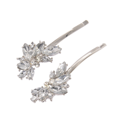 ATHENA COLLECTION - CRYSTAL GLAM CLIPS - CLIP756 SILVER