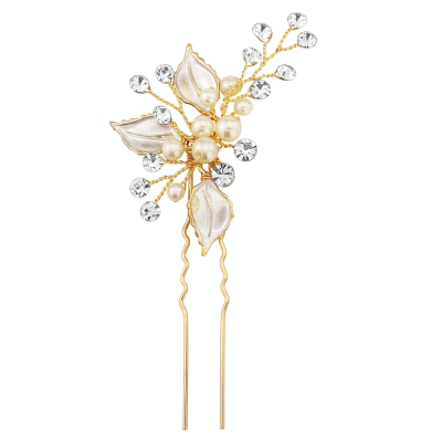 ATHENA COLLECTION - BEJEWELLED ROMANCE HAIR PIN - PIN31 (GOLD)