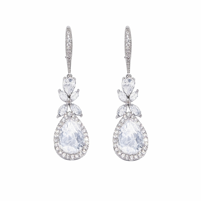 CUBIC ZIRCONIA COLLECTION - CRYSTAL SPARKLE EARRINGS - CZER479