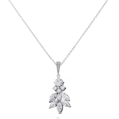 CUBIC ZIRCONIA COLLECTION - CRYSTAL DIVINE EARRINGS NECKLACE -CZNK123