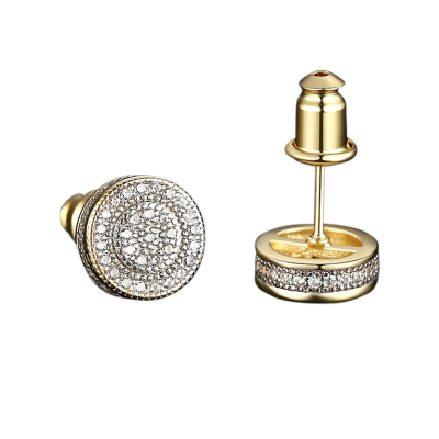 CUBIC ZIRCONIA COLLECTION - CRYSTALLURE STUD EARRINGS - CZER571 GOLD