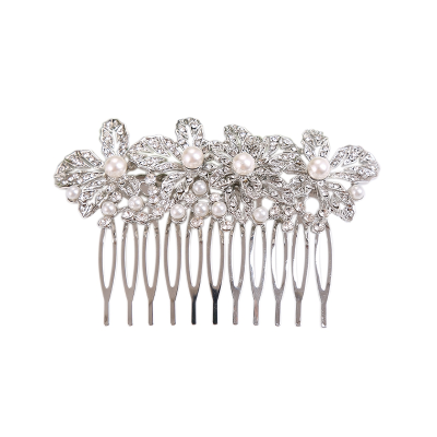 ATHENA COLLECTION - EXQUISITELY PEARL COMB - HC174 SILVER