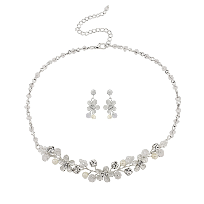 ATHENA COLLECTION - Pretty pearl necklace set - NK139